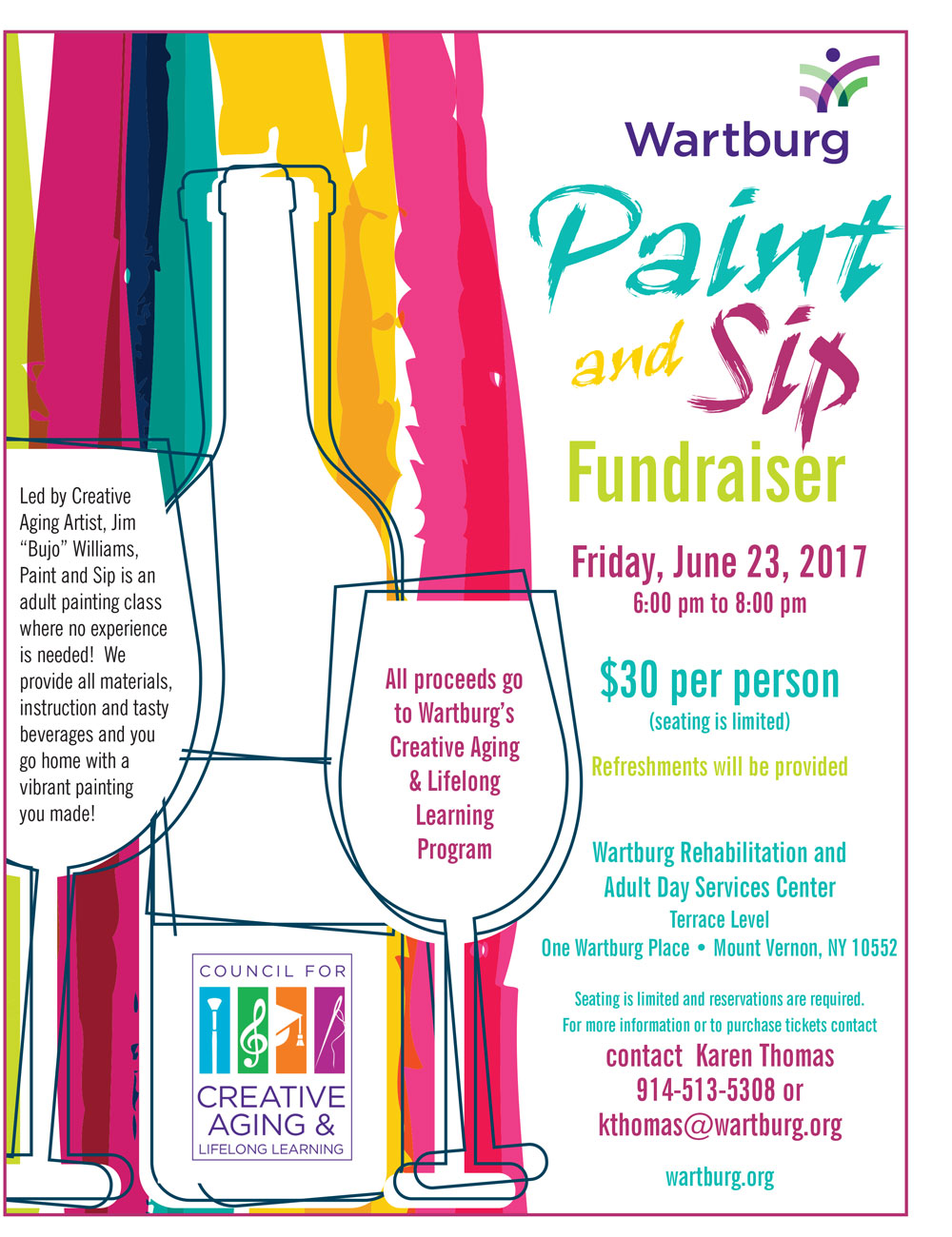 Past events wartburg for Sip and paint