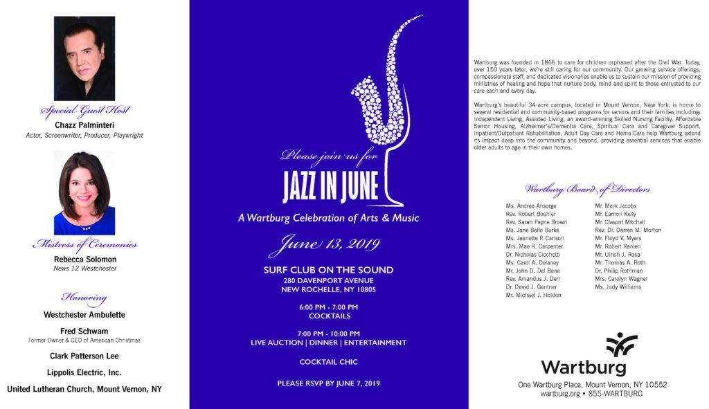 Jazz In June 2019 Invite